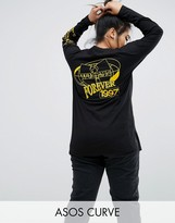 Asos Top with Wu Tang Print and Super Long Sleeve