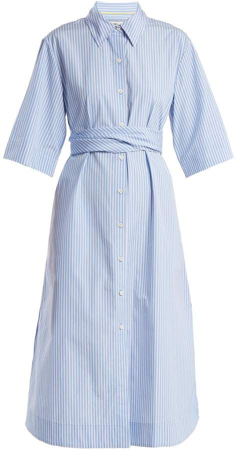 Diane von Furstenberg Striped tie-waist cotton shirtdress