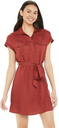 So Juniors' Short Sleeve Utility Dress