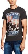 Wrangler Men's S/S Born to Ride T Phantom T-Shirt,Large