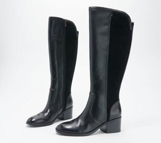 Marc Fisher Wide Calf Leather Tall Shaft Boots - Riyea
