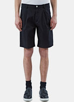Raf Simons Men's Front Pleat Bermuda Shorts In Black