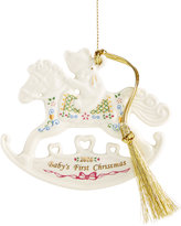 Lenox Annual 2016 Baby's 1st Rocking Horse Ornament
