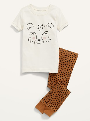Old Navy Unisex Cheetah-Graphic Pajama Set for Toddler & Baby