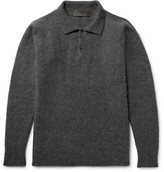 The Elder Statesman Stretch Cashmere-blend Sweater - Charcoal