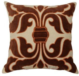 Divine Home Applique Trellis Cotton Throw Pillow