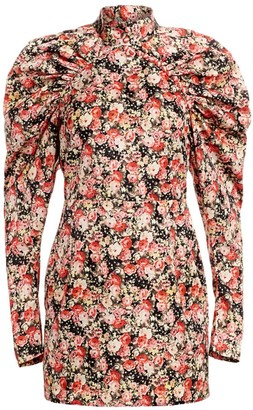 Rotate by Birger Christensen Kim Floral Jacquard Mini Sheath Dress
