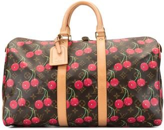 Louis Vuitton x Takashi Murakami 2005 pre-owned Cherry Keepall 45 travel bag