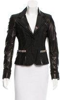 Roberto Cavalli Notch-Lapel Leather Blazer