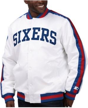 Starter Men's Philadelphia 76ers The D-Line Starter Satin Jacket