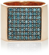 Sydney Evan Large Square Pave Signet Ring
