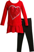 Dollie & Me Red & Black Tunic Set & Doll Outfit - Girls