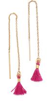 Shashi Thread Tassel Earrings