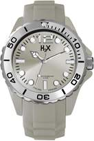 Haurex H2X Men's SC382UC2 Reef Luminous Dial Rotating Bezel Grey Silicone Watch