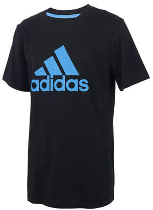 adidas Boys' Tee Shirts BLACK - Black 'Adidas Texture Bos Short-Sleeve Tee - Boys