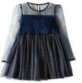 Bardot Junior Velour And Mesh Dress