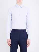 HUGO BOSS Ditsy-spot slim-fit cotton shirt