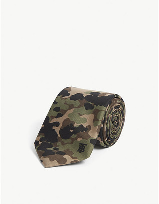 Burberry Camo print silk tie