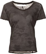 Unravel Project camouflage print T-shirt