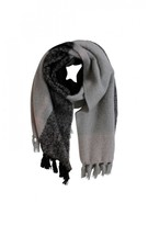 DECJUBA Textured Knitted Fringe Scarf