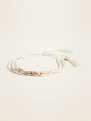 Old Navy Seed-Bead Multi-Strand Stretch Bracelet for Women
