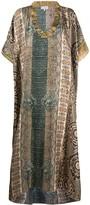 Pierre Louis Mascia Aloeuw mixed-print silk dress