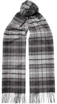 Johnstons of Elgin Checked Cashmere Scarf - Gray