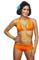 Nicolita Swimwear - Senorita Solids - Boy Short Bikini Bottom Orange