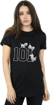 Disney Women's 101 Dalmatians 101 Doggies Boyfriend Fit T-Shirt XX-Large Black