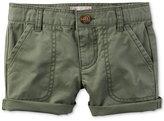 Carter's Olive Cotton Shorts, Little Girls (2-6X)
