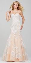 Jovani Strapless Lace Mermaid Prom Dress