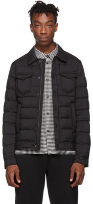 Herno Black Down La Denim Shirt Jacket