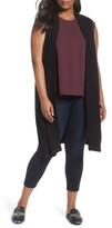 Sejour Plus Size Women's Long Sweater Vest