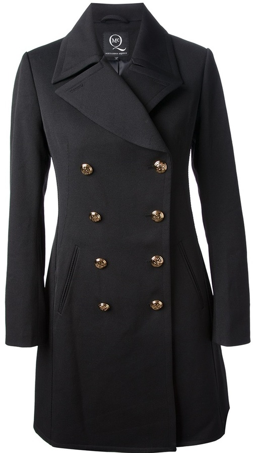 McQ double breasted coat