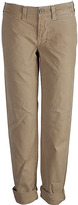 J BRAND Khaki 7/8 Cotton Pants Loose Fit