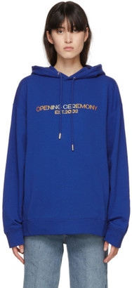Opening Ceremony Blue Logo Hoodie