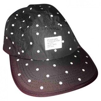 Stussy Black Polyester Hats & pull on hats