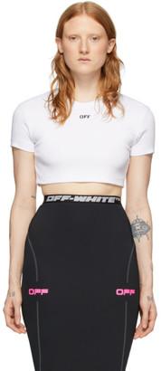Off-White SSENSE Exclusive White Rib T-Shirt