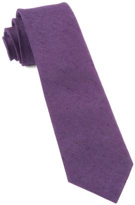 Tie Bar Linen Row Eggplant Tie