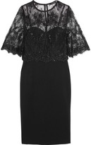 Catherine Deane Layered Lace And Ponte Dress