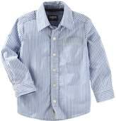 Osh Kosh Oshkosh Bgosh Boys 4-12 Striped Button Down Shirt