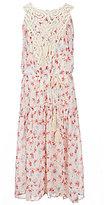 Rare Editions Big Girls 7-16 Floral-Printed Chiffon Maxi Dress