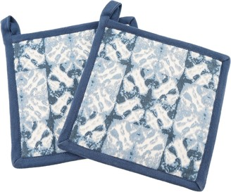 Thirstystone Set of 2 Checkerboard Tie Dye PotHolders
