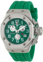Swiss Legend Women's 10535-08 Trimix Diver Chronograph Green Dial Green Silicone Watch