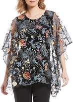 Caroline Rose Embroidered Zodiac Embroidered Lined Caftan