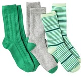 Merona Women's 3-Pack Assorted Crew Socks - Assorted Colors/Patterns One Size Fits Most