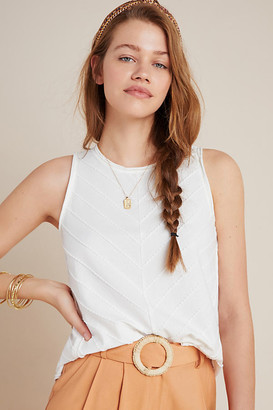 Anthropologie Maura Tank By in White Size XL
