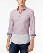 Michael Kors Men's Colorblocked Striped Cotton Shirt
