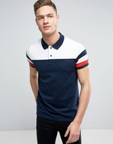 Tommy Hilfiger Color Block Polo Slim Fit in Navy