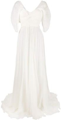 Maria Lucia Hohan Rhonda open-back silk gown
